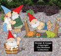 Large Garden Gnomes #3 Pattern Set