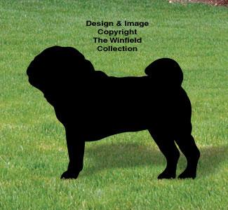 Pug Shadow Woodcraft Pattern