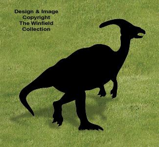 Duckbill Dinosaur Shadow Pattern