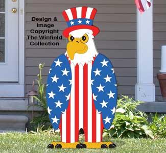 Large Patriotic Eagle Pattern