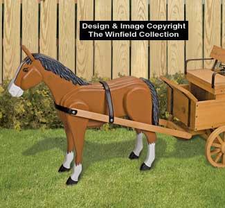 Hay Wagon Horse Wood Pattern