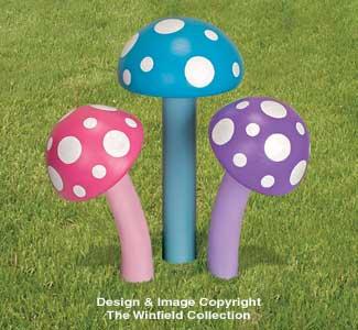 3D Giant Mushrooms Wood Plans