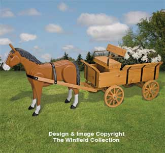 Planter Woodworking Plans - Horse & Hay Wagon Planter ...