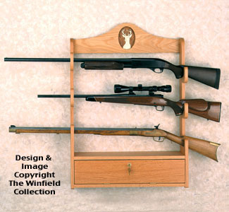 Other Furniture Gun Rack Wood Project Plan
