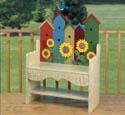Birdhouse Bench Woodworking Plan