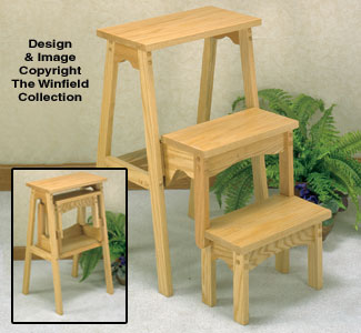 Awe Inspiring Wood Patterns Three Step Fold Up Stool Wood Plan Pabps2019 Chair Design Images Pabps2019Com