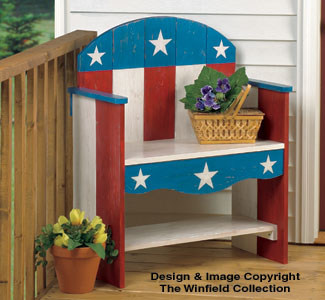 All Other Holiday Patriotic Bench Wood Plans