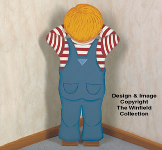 Pouting Boy Woodcraft Pattern