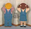 Pouting Boy & Girl Woodcraft Pattern Set