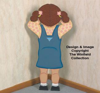 Pouting Girl Woodcraft Pattern