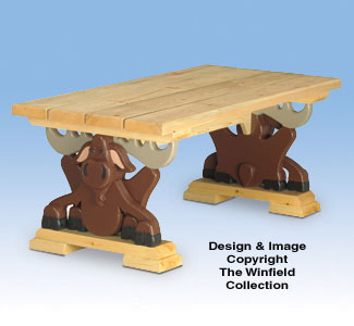 Beau Moose Coffee Table Wood Project Plan