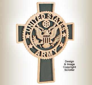 Army Honor & Faith Wall Cross Design Pattern