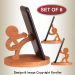 Character Cell Phone Holders Pattern Set
