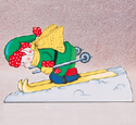 Skiing Elf Woodcrafting Pattern