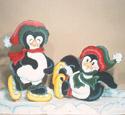 North Pole Penguins Woodcraft Pattern