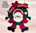 Swinging Wreath Santa Pattern