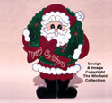 Santa With Wreath Woodcrafting Pattern