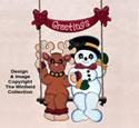 Swinging Snowman & Reindeer Pattern