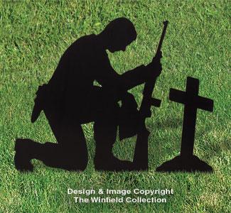 All-Weather Fallen Soldier Yard Memorial