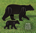 All-Weather Black Bear and Cub Yard Display