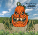 Large Scary Pumpkin Woodcraft Pattern