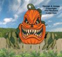 Large Scary Pumpkin Woodcraft Pattern