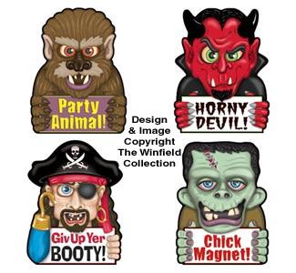 Fun Halloween Car Magnet Set