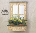 Rustic Window Planter Wood Planter