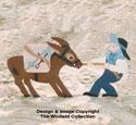Donkey and Miner Woodcraft Pattern