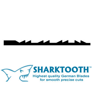 SHARKTOOTH <br>Scroll Saw Blades<br> Double Reverse