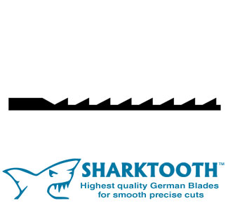 SHARKTOOTH<BR> Scroll Saw BLades<br> Superior Puzzle