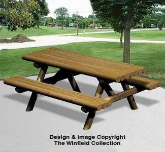 All Yard Garden Projects Landscape Timber Picnic Table Wood Plan - Timber picnic table