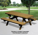 Landscape Timber Picnic Table Wood Plan