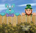 Spring Holiday Fence Peekers Wood Pattern