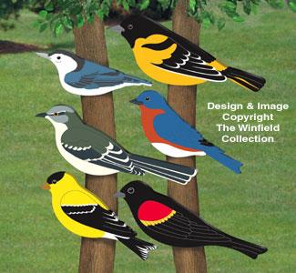 Giant Bird Cutouts II Wood Pattern