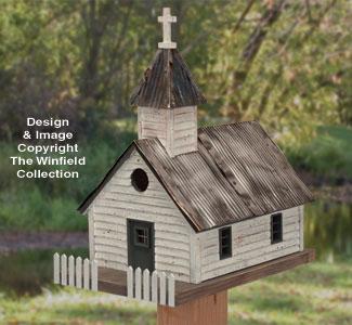 Rustic Church Birdhouse #2 Wood Plan