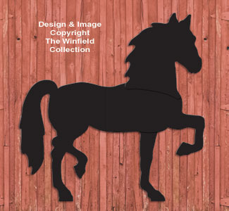 Life-Size Standing Horse Shadow Pattern