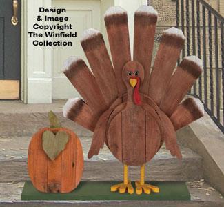 Pallet Wood Turkey Pattern