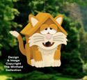 Funny Feline Birdhouse Pattern
