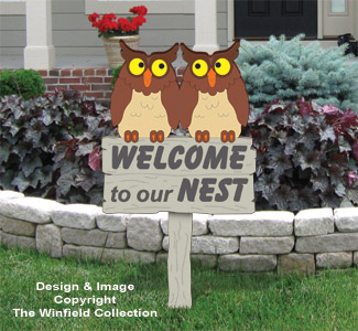 Owl Welcome Sign Pattern