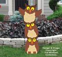 Owl Triple Stack Pattern