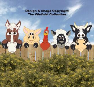 Funny Farm Animal Peekers Pattern