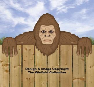 Bigfoot Fence Peeker Pattern
