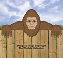Bigfoot Fence Peeker Pattern