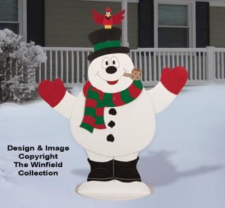Outdoor Dancing Snowman Pattern