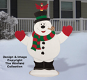 Outdoor Dancing Snowman Pattern