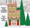 Christmas Village Apartments Color Poster