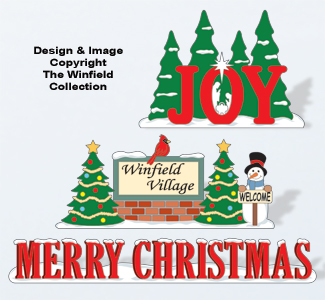 Christmas Village Displays Color Poster