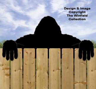 Bigfoot Fence Peeker Shadow Pattern