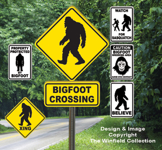Bigfoot Signs Pattern Set